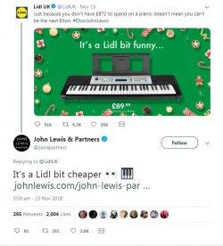 Lidl v John Lewis